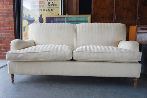 9c83c3fa836d3 Contemporary Large 3 Seater Sofa Settee in Laura Ashley Style Cream –  Erfmann Vintage