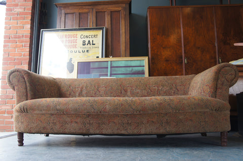 Victorian Roll Top Arm Sofa Settee Chesterfield 3 Seater - erfmann-vintage