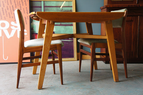 Mid Century Retro 1960s G-Plan Style Extendable Table & 2 Chairs - erfmann-vintage