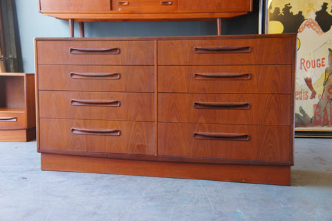 Vintage Retro 1960s G Plan Large 8 Double Drawer Unit Teak - erfmann-vintage
