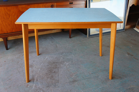 Vintage Retro Retro Table Blue Formica Kitchen Dining 50s-60s - erfmann-vintage
