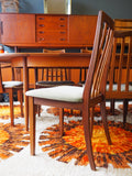 Mid Century GPlan Extending Dining Table & 6 Chairs Beautiful Teak - erfmann-vintage