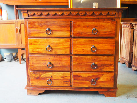 Contemporary Solid Chest of Drawers Very Well Made - erfmann-vintage