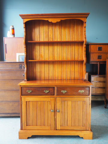 Handmade Solid Mahogany Welsh Dresser Peg-Jointed Well Made - erfmann-vintage