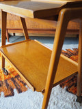 Mid Century Remploy Serving Tray Hostess Trolley Oak Vintage - erfmann-vintage