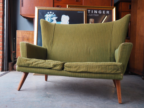Vintage Retro E-Gomme for G-Plan Green 2 Seater Sofa - erfmann-vintage