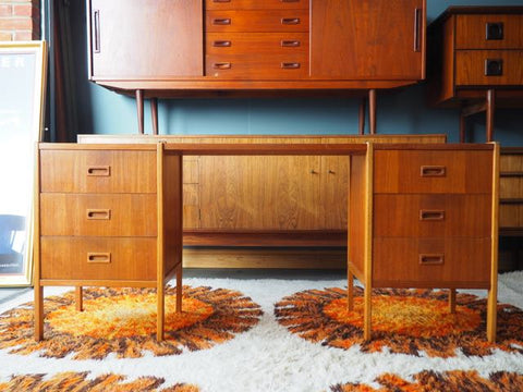 Scandinavian Desk, Dressing Table by B.Fridhagen for Bodafors, 1960 - erfmann-vintage