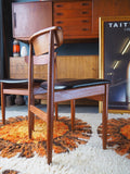 Two Teak Mid Century Danish Dining Chairs - erfmann-vintage