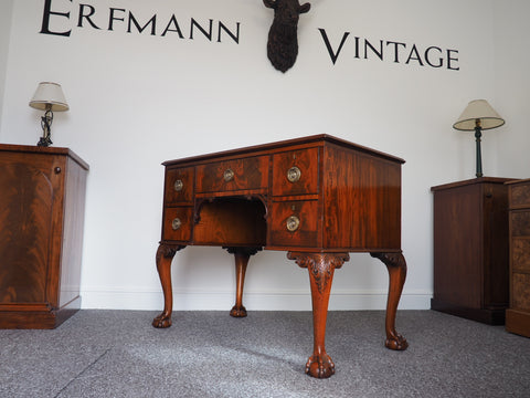 Georgian Style Mahogany Knee Hole Writing Desk - erfmann-vintage