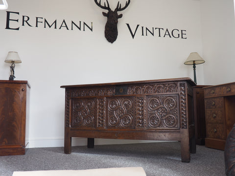 Late 17th - Early 18th Century Oak Coffer - erfmann-vintage
