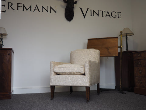 Edwardian Easy-Chair Circa 1900s Fully Re-upholstered - erfmann-vintage