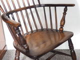 Georgian Elm Hoop & Stick-Back Windsor Chair Circa 1830s - erfmann-vintage