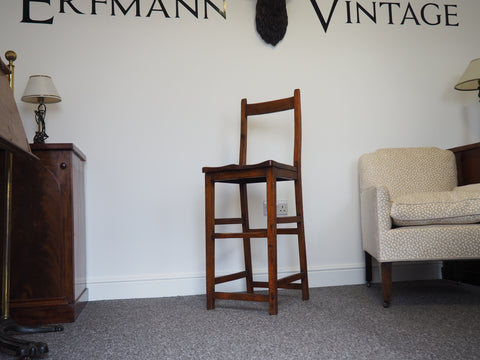 Late 19th Century Single Tall / High Chair in Mahogany - erfmann-vintage