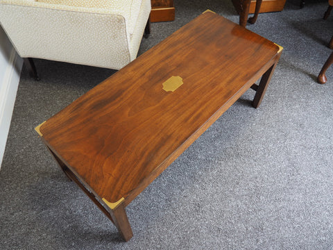 Early 20th Century Mahogany Campaign Coffee Table c.1930 - erfmann-vintage