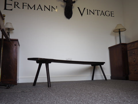 Victorian 19th Century Oak Seat or Hall Bench - erfmann-vintage