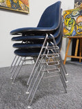 Vintage Mid Century Set of Four Eames Fiberglass DSS Stacking Chairs - erfmann-vintage