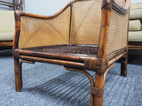 Mid Century Rare Bamboo, Rattan and Cane Three Piece Suite Suberb Quality - erfmann-vintage