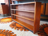 Contemporary Dark Teak Bookcase Shelving Storage - erfmann-vintage