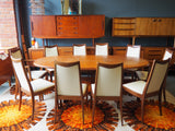 Mid Century G Plan Extending Table & 10 Chairs including 2 Carvers - erfmann-vintage