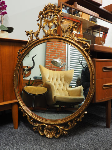 Baroque Style Rococo Antique Mirror Ornate Moulding - erfmann-vintage