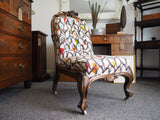 Mid 19th Century Victorian Spoon-back Easy Chair - erfmann-vintage