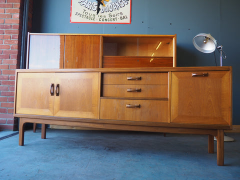 Mid Century G-Plan Teak Sideboard with Two Recessed Drawers - erfmann-vintage