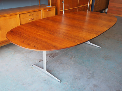Danish Modern Dining Table Designed by Piet Hein for Fritz Hansen - erfmann-vintage