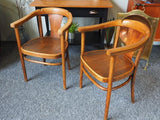 Vintage Early 20th C THONET 255 Bentwood Captain's Chairs - erfmann-vintage