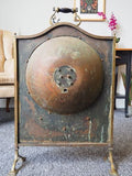 Antique Arts & Crafts Brass & Copper Fire Screen - erfmann-vintage