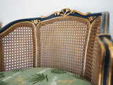 Pair of Louis XV Style Bergere Armchairs Early 20th Century - erfmann-vintage