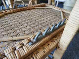 Antique Early 20th C. BOHWARD Steamer Deck Chairs Rattan Wicker Bamboo