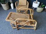 Mid Century Vintage Retro BOHWARD Steamer Deck Chairs 1970s Rattan Wicker Bamboo