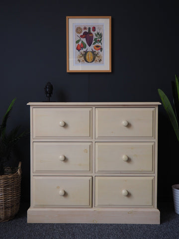 Vintage Laura Ashley Style Pine Chest of Drawers Painted Rustic - erfmann-vintage