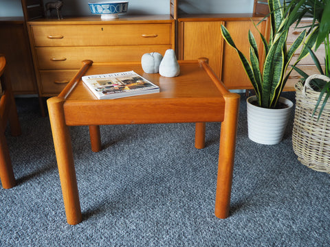 Danish Modern Domino Mobler Teak Coffee Table - erfmann-vintage