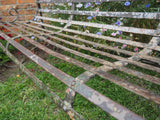 Antique Victorian Wrought Iron Rustic Garden Bench 4 Seater - erfmann-vintage