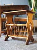 Mid Century Ercol Golden Dawn Magazine Rack Table in Solid Elm