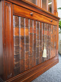 19th Century Gothic Mahogany & Faux Leather Display Case - erfmann-vintage