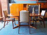 Mid Century Laurits M. Larsens (Danish) Extending Dining Table & 4 Chairs - erfmann-vintage