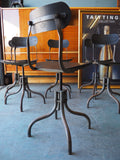 Industrial Chic TAN-SAD 'secretary/sewing' chairs - 1930s - erfmann-vintage