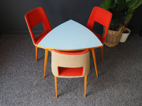 Mid Century Vintage Retro 1960s Table With 3 Chairs