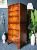 Antique Style Bevan & Funnell Reprodux Mahogany Chest on Chest / TallBoy