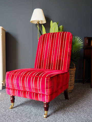 Laura Ashley Home Red Upholstered Occasional / Nursing Chair