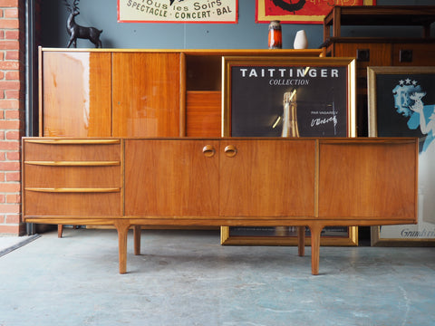Mid-Century McIntosh Teak Sideboard Large with centrally placed cupboards - erfmann-vintage