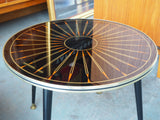 1950s Atomic Age Starburst Style Circular Coffee Table/Side Table - erfmann-vintage