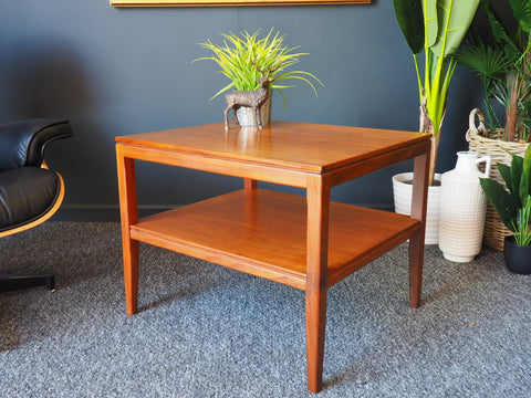 Mid Century VIntage Teak Square Shaped Coffee Table