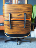 Mid Century Vintage Eames Style Leather Lounger & Ottoman