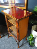 Antique Late Victorian Painted Bamboo Cabinet