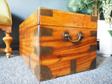 Antique Late 19th Century Campaign Camphor-wood Trunk or Chest