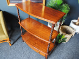 Antique Regency Three Tier Whatnot Display Stand