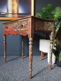 Antique 19th Century 1840s Pretty Painted Pine Side Table